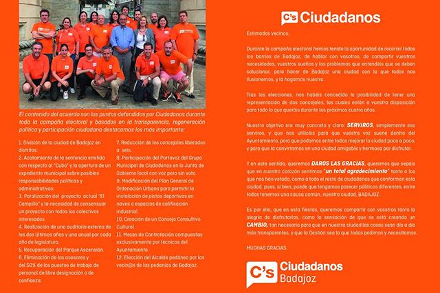 Flayers Ciudadanos Badajoz